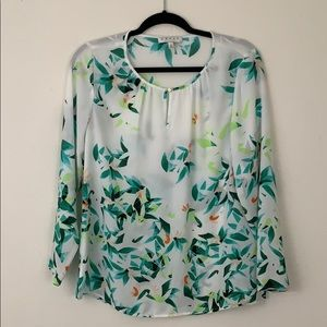 CHAUS New York long sleeve blouse small